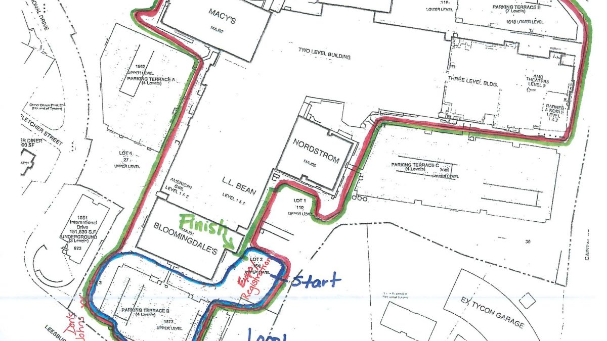 Tysons Chamber 5k course map