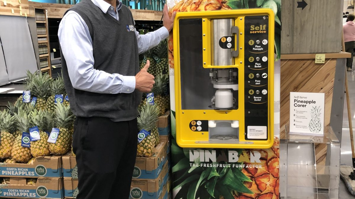 how do you core your pineapple? use this machine at tysons corner whole foods